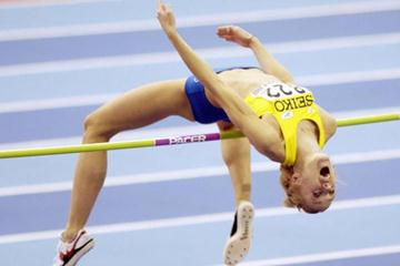 The winning jump of Sweden's Kajsa Bergqvist (Getty Images)