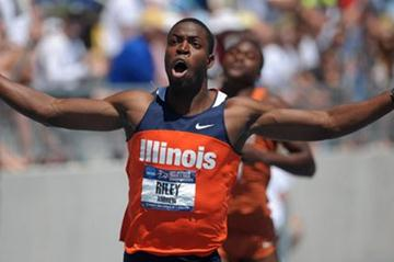 NCAA 100/110m Hurdles winner Andrew Riley (Kirby Lee)