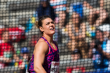Croatia's Sandra Perkovic in the discus (AFP / Getty Images)
