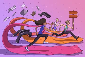 Running for office (Christel Saneh)