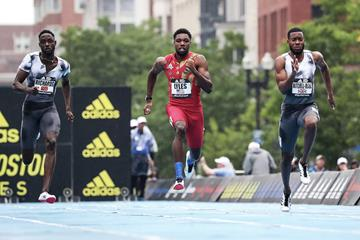 Noah Lyles in action at the adidas Boost Boston Games (Victah Sailer / organisers)