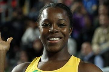 Veronica Campbell-Brown of Jamaica celebrates as she wins gold in the Women's 60 Metres Final during day three - WIC Istanbul (Getty Images)
