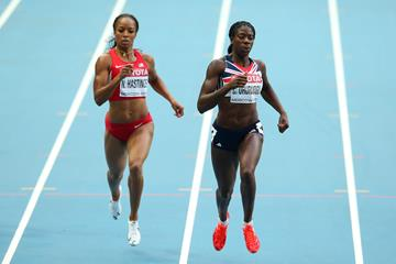 Christine Ohuruogu in the women's 400m at the IAAF World Championships Moscow 2013 (Getty Images)