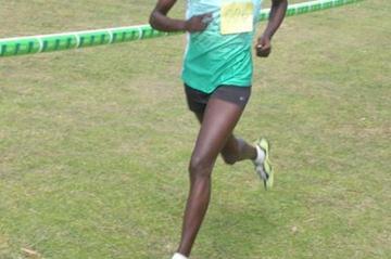 Linet Chepkurui runs a solo race to win the senior women's race at the Fifth Athletics Kenya Cross Country meeting in Nyahururu (IAAF.org)