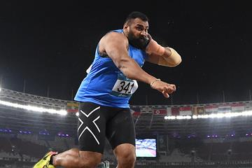Tejinder Pal Singh at the Asian Games in Jakarta (AFP/Getty Images)