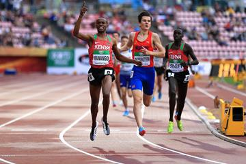 George Manangoi wins the 1500m at the IAAF World U20 Championships Tampere 2018 (Getty Images)