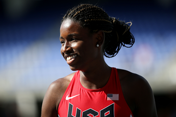 Candace Hill at the IAAF World Youth Championships Cali 2015 (Getty Images)
