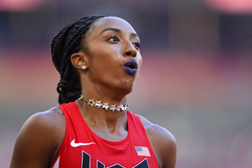 Brianna Rollins in the 100m hurdles at the IAAF World Championships Beijing 2015 (AFP / Getty Images)