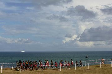 The start of the women's junior race at the IAAF World Cross Country Championships in Mombasa, Kenya on March 24, 2007 in Mombasa, Kenya. (Getty Images)