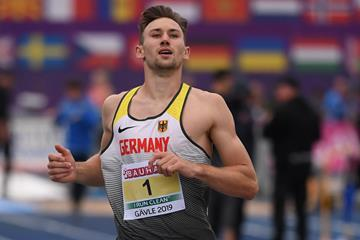 Niklas Kaul winning the European U23 decathlon title in Gavle (Getty Images)