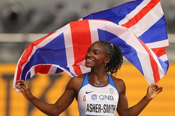 Dina Asher-Smith after taking 100m silver at the IAAF World Athletics Championships Doha 2019 (Getty Images)