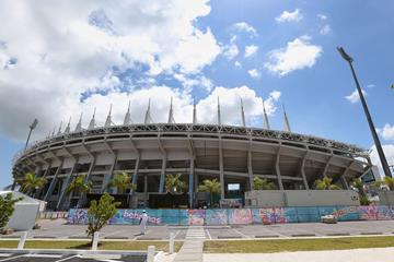 The Thomas A Robinson Stadium in Nassau, host of the IAAF World Relays (Getty Images)