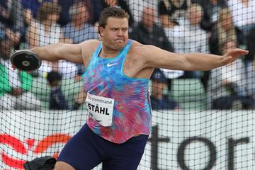 Discus winner Daniel Stahl at the IAAF Diamond League meeting in Oslo (Jean Pierre Durand)