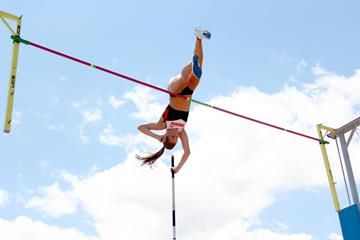 Alysha Newman, winner of the Pole Vault at the 2013 Pan-American Junior Championships (Julio César Sandoval)