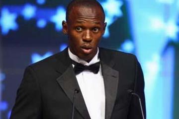 Usain Bolt - 2008 World Athlete of the Year - World Athletics Gala, 23 November (Getty Images)