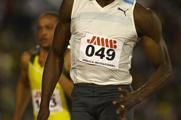Usain Bolt en route to his dazzling 9.76 in Kingston (Getty Images)