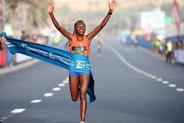 Ruth Chepngetich wins the Dubai Marathon (Giancarlo Colombo / organisers)
