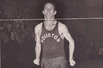 Australian distance runner Al Lawrence (University of Houston)