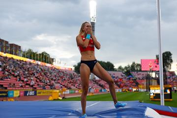 Amalie Svabikova, winner of the pole vault at the IAAF World U20 Championships Tampere 2018 (Getty Images)
