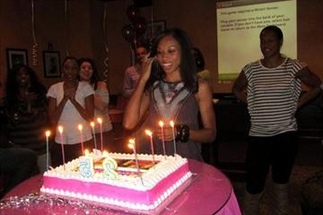 Surprise! Allyson Felix at her 25th birthday bash (Freelance)