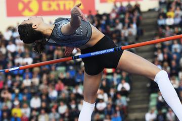 Maria Lasitskene, winner of the high jump at the IAAF Diamond League meeting in Oslo (Deca Text & Bild)