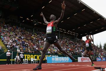 Barnabas Kipyego wins the 3000m steeplechase at the IAAF World Junior Championships, Oregon 2014 (Getty Images)