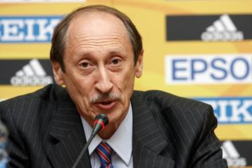 Valentin Balakhnichev during the Press Conference (IAAF.org)