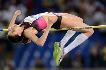 Anna Chicherova shares the High Jump win at the Rome Diamond League (Giancarlo Colombo)