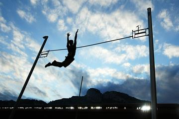 Pole vault action at the Herculis meeting in Monaco (Getty Images)