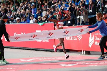 Brigid Kosgei wins the Chicago Marathon (AFP / Getty Images)