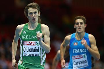 Ciarán Ó Lionáird - running to European indoor bronze ()