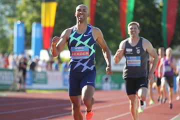 Damian Warner on his way to victory at the Hypo Meeting in Gotzis (Jean-Pierre Durand)