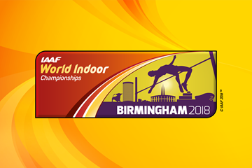 IAAF World Indoor Championships Birmingham 2018 logo (IAAF)