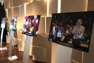 IAAF Photograph of the Year exhibit, Meridien Hotel, Monaco (Bob Ramsak)