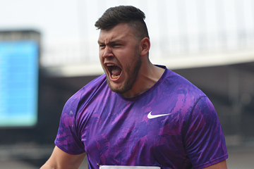 Konrad Bukowiecki, winner of the shot put (AFP / Getty Images)