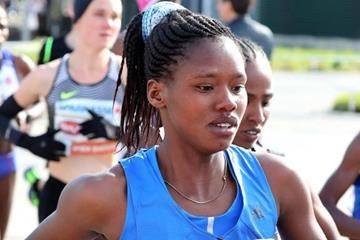 Angela Tanui at the Vienna Marathon (Victah Sailer (organisers))