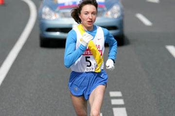 Galina Bogomolova en route to a 10Km stage best in Yokohama (Kazutaka Eguchi/Agence SHOT)