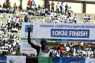 Hosea Kiprop Rotich wins the Standard Chartered Nairobi International Marathon (Omulo Okoth)