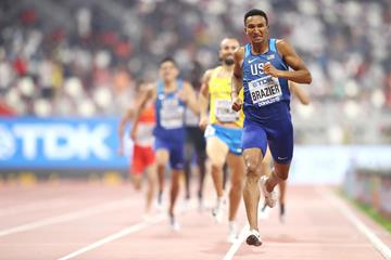 Donavan Brazier wins the 800m at the IAAF World Athletics Championships Doha 2019 (Getty Images)