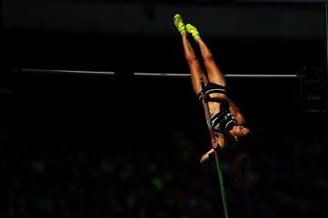 Eliza Mccartney in the pole vault at the Rio 2016 Olympic Games (Getty Images)