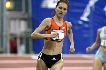 Liliya Shobukhova takes the New Balance Games mile in New York (Victah Sailer)