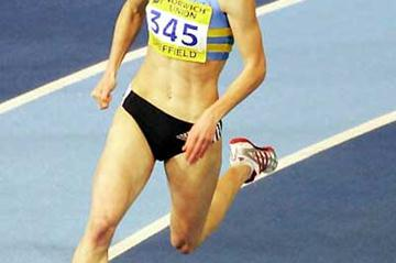 Nicola Sanders speeds to 50.72 clocking in Sheffield (Getty Images)