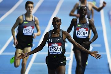 5000m European indoor record for Mo Farah at the Muller Indoor Grand Prix in Birmingham (Getty Images)