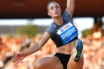 Ivana Spanovic in the long jump at the IAAF Diamond League meeting in Zurich (AFP / Getty Images)