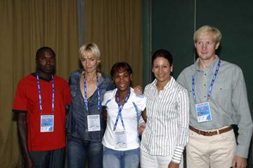 Wilson Kipketer, Heike Drechsler, Ana Quirot, Nezha Bidouane and Maksim Tarasov at Class of Future Champions Marrakech (IAAF)