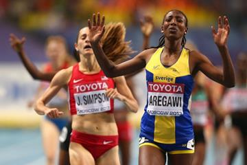 Abeba Aregawi in the womens 1500m at the IAAF World Athletics Championships Moscow 2013  (Getty Images)