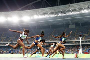 Brianna Rollins wins the 100m hurdles at the Rio 2016 Olympic Games (Getty Images)