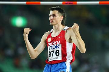 Yaroslav Rybakov of Russia during the Men's High Jump Final (Bongarts/Getty Images)