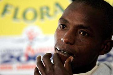 Evans Rutto at the Flora London Marathon press conference - 13 April (Getty Images)
