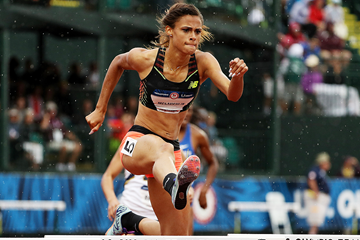 Sydney McLaughlin in the 400m hurdles at the US Olympic Trials (Getty Images)